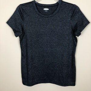 🌼2/$10🌼 NWOT Black Iridescent Short Sleeve Top